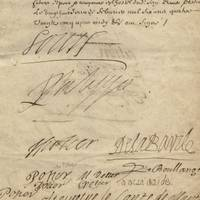 From the Age of the Sun King, an Incredible Rarity: Louis XIV, His Brother Philippe, and Many Great Nobles of the Age Sign a Marriage Contract For the Son of the President of Parliament A glimpse into the Age of Louis XIV at the apex of his power, signed by prominent royal, judicial and diplomatic figures.