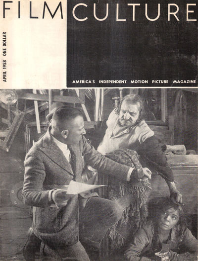 NY: Film Culture, 1958. Paperback. Very good. 31pp. Lightly rubbed overall, pages darkened, else ver...