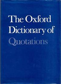 image of The Oxford Dictionary of Quotations (Second Edition)
