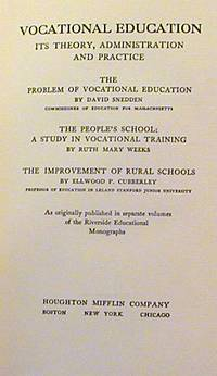 Vocational Education: Its Theory, Administration and Practice