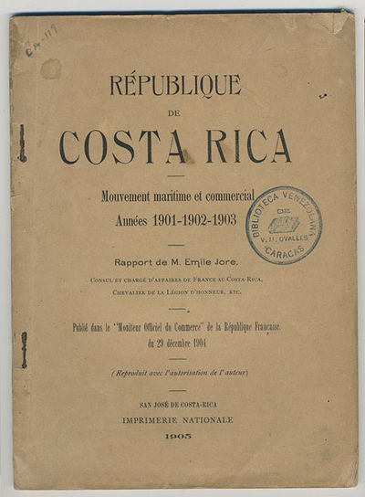 San José, Costa Rica: Imprimerie Nationale, 1905. 12mo. 65 pp. Originally published in the