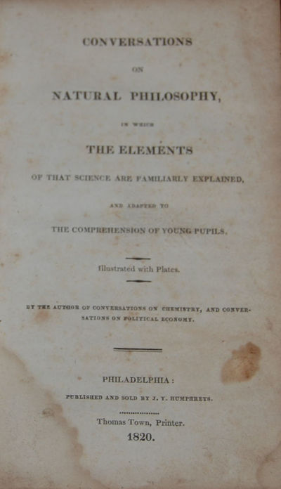 Philadelphia: J. Y. Humphreys, 1820. First American edn. Small 8vo, pp. , 312. Bound in contemporary...