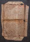 Leaf of Passionale in Latin  [Italy, 12th century, first half]