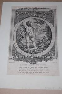 LÕAmour Lancant Une Fleche. Love Shooting Arrow. Cupid. 18th Century Engraving. Single Leaf.