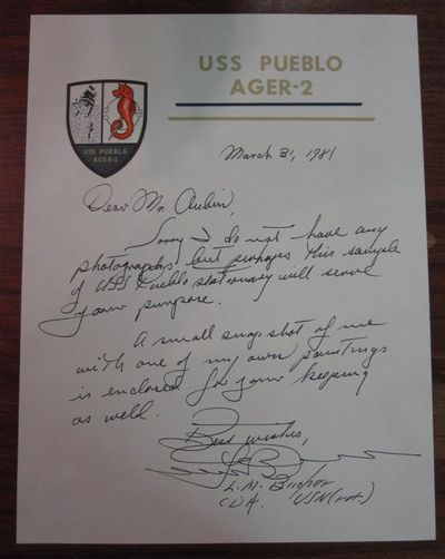 1981. unbound. Autographed letter signed twice as