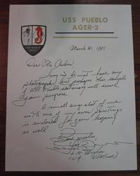 """Autographed Letter Signed by  Lloyd """"Pete BUCHER - 1981 - from Argosy Book Store and Biblio.com"""