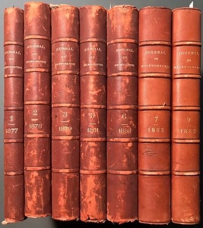 Paris: Bureaux du Journal, 1877 - 1885. First Edition.. Contemporary half leather and marbled paper....