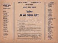 """""""Salute Our Russian Ally""""; On the occasion of the twenty-fifth anniversary of the..."""