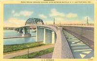 Peace Bridge Crossing Niagara River Between Buffalo N.Y and Fort Erie 1940 used Postcard