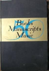 50: Books, Manuscripts, Music: Catalogue Number 111