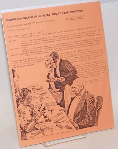 San Francisco: The Caucus, 1990. Single 8.5x11 inch handbill printed one-side-only with text and vin...