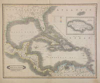 Edinburgh: Lizars, William, 1842. unbound. Map. Lithograph with original hand outline. Each image me...
