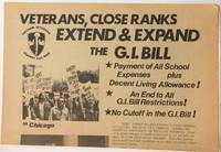 image of Veterans, close ranks. Extend and expand the GI Bill