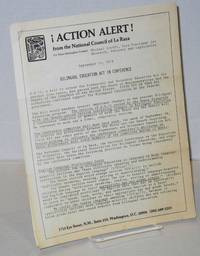 ¡Action alert! from the National Council of La Raza Sept 11, 1978; bilingual education act in conference