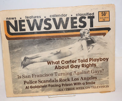 Los Angeles: NewsWest, 1976. Newspaper. 52p., folded tabloid newspaper, ads, services, reviews, news...