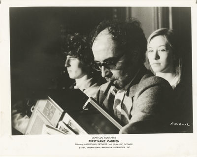 N.p.: International Spectrafilm Distribution, 1984. Vintage reference photograph of Jean-Luc Godard ...