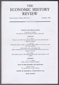 The Economic History Review. Second Series, Volume XLI (41), No. 1, February 1988