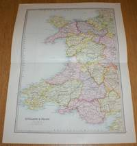 image of Map of England & Wales (Section 5) covering Wales - Sheet 16 Disbound from the 1890 'The Library Reference Atlas of the World'