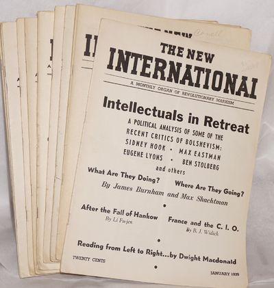 New York: New International Publishing Company, 1939. Twelve issues, , wraps, 9x12 inches, minor han...
