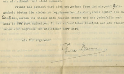 22/04/1935. Thomas Mann This letter was acquired from the family of the recipient and has never been...