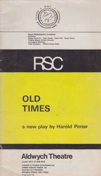 image of Old Times: a new play by Harold Pinter [Program]