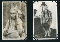 Album of 132 Photographs showing Scenery from Western American National Parks, with Many Realphoto Postcards by Noted Photographers including Blackfeet Photographs by T.J. Hileman