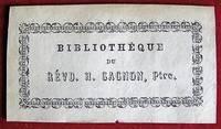 image of Ex-libris Québec. Révd. H. Gagnon, ptre