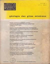 Géologie des gîtes minéraux deuxième série 1-2