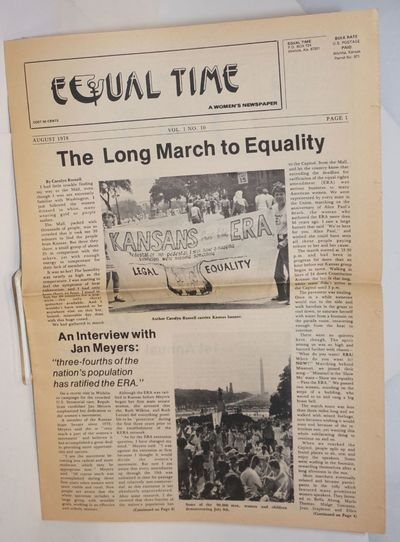 Wichita: Equal Time, 1978. Newspaper. 8p. folded tabloid newspaper, articles, news, events, services...