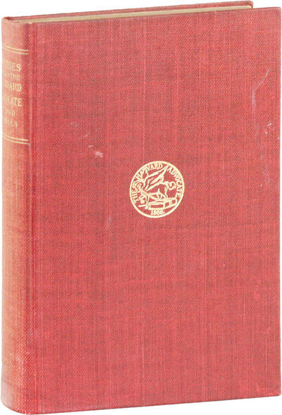 Cambridge: Harvard Advocate, 1906. First Edition. Octavo (22.5cm). Red cloth covered boards; titled ...