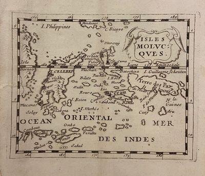 Paris: Pierre Duval, 1676. unbound. Miniature map. Uncolored engraving. Image measures 4