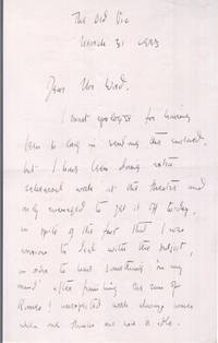 image of Fine Autograph Letter signed to Mrs Wood (Marius, 1912-1998, Actor)