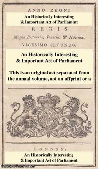 1809. An Act to amend so much of an Act...certain Stamp Duties, as relates to the Limitation according to which the Discount on Newspapers is regulated by King George III - First Edition - 1809 - from Cosmo Books (SKU: 141893)