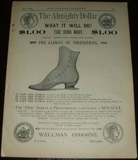 image of Original 1890 Full Page Illustrated Advertisement for Wellman Osborne Shoes