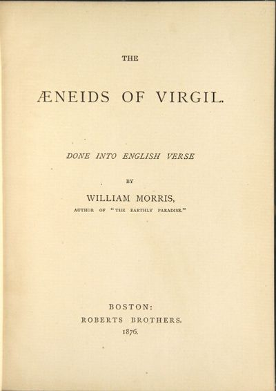 Boston: Roberts Brothers, 1876. First American edition, from the second London editon, issued with A...