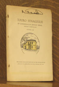 TOURO SYNAGOGUE OF CONGREGATION JESHUAT ISRAEL NEWPORT, RHODE ISLAND, FOUNDED 1658