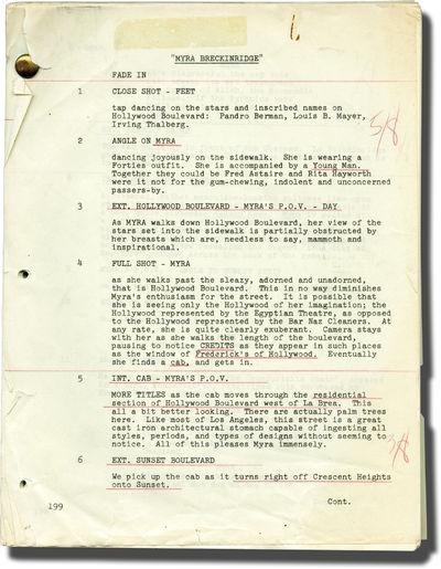 Los Angeles: Twentieth Century-Fox, 1970. Draft script for the 1970 film. Based on the 1968 novel by...