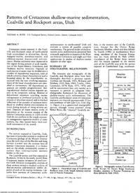 Patterns of Cretaceous Shallow-marine Sedimentation. Coalville and Rockport Areas, Utah
