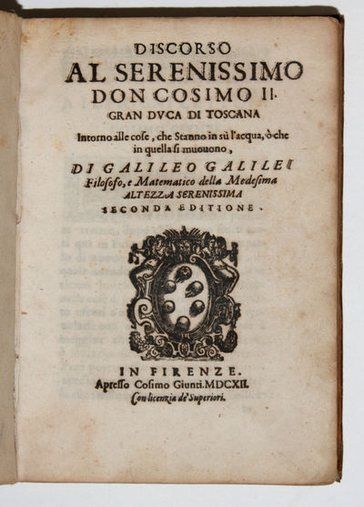 Florence: Cosimo Giunti, 1612. Hardcover. Near Fine. 4to - over 9¾ - 12