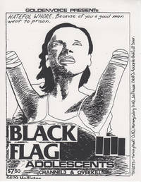 Black Flag at 5679 Hollister (1982 Silkscreen Concert Flyer)
