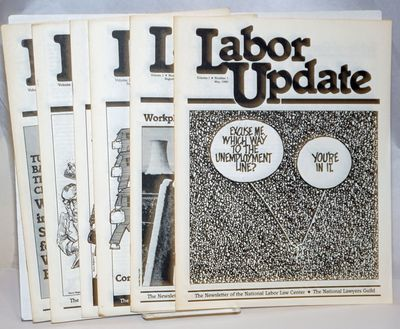 Washington DC: National Labor Law Center, 1981. Magazine. Seven issues of the newsletter, a complete...