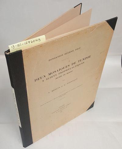 Paris: Librairie Ernest Leroux, 1934. Text in French; Folio; VG-/no-DJ; Black spine with mint spine ...