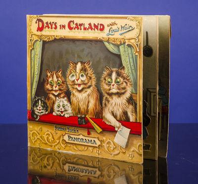 London: Raphael Tuck & Sons, Ltd, 1912. An Eye-Popping Cat Pop-Up Book WAIN, Louis. Days in Catland ...