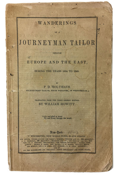 New York: Winchester, 1842. Paperback. Fair. Translated from the third German edition by William. Ho...