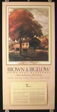 1938 Calendar. Brown & Bigelow. Saint Paul, Minnesota.  Remembrance Advertising