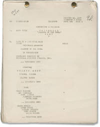 image of [The] Phantom of the Opera (Original post-production screenplay for the 1943 film)