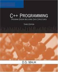 image of C++ Programming: Program Design Including Data Structures, Third Edition