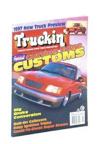Truckin' Magazine, February [Feb.] 1997: Cover Photo of Full-Custom '96 Isuzu Hombre Owned By Brian Jendro