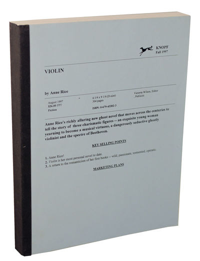 New York: Alfred A. Knopf, 1997. First edition. Oversized tape bound proof. Probably the earliest re...