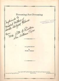 DREAMING JUST DREAMING; Words and Music by Falba Rieden.  Arranged by Ted Krause